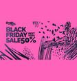 black friday sale banner original poster vector image vector image
