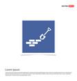 bricks icon - blue photo frame vector image