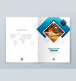 brochure cover background design blue corporate vector image vector image