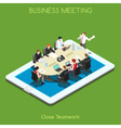 Business 02 People Isometric Business 03 People vector image vector image