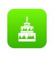 cake icon digital green vector image vector image