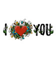 calligraphy i love you for valentines day vector image vector image