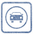 car fabric textured icon vector image vector image