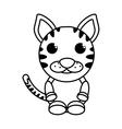 cat mascot cartoon isolated icon vector image vector image