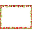 christmas frame background with candies baubles vector image vector image