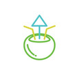 coconut ice icon color line design vector image vector image