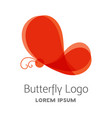 colorful red butterfly logo template vector image vector image