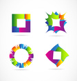 Colors logo elements icon set design vector image vector image