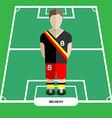 Computer game Belgium Football club player vector image vector image