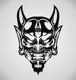 Devil Face Tribal vector image vector image