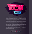 discount -25 off black friday ad label on ribbon vector image vector image