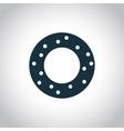 Donut flat black icon vector image
