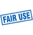fair use square stamp vector image vector image