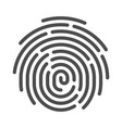fingerprint line art icon privacy identity symbol vector image vector image