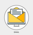 Flat design concept for Email for web banne vector image