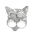 french bulldog doodle art vector image vector image