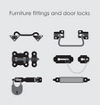 furniture fittings door lock door furniture and vector image vector image