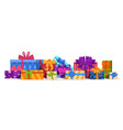 gift boxes christmas present and birthday vector image