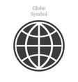 globe icon flat style on white background vector image vector image