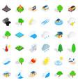 globe icons set isometric style vector image