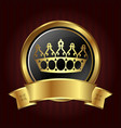golden crown in circle vector image