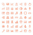 infographic icons vector image vector image