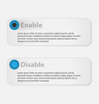 infographics options vector image vector image