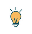 light bulb idea innovation social media line and vector image vector image