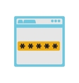 login access template isolated icon vector image