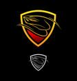 logo design viper shield vector image vector image