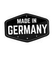 made in germany label or sticker vector image vector image