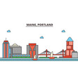 maine portlandcity skyline architecture vector image vector image