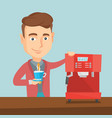 man making coffee vector image vector image