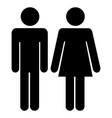 man woman stick figure icon black and white vector image