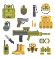 Military weapon guns symbols vector image