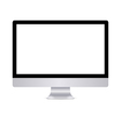 Modern computer display with blank white screen