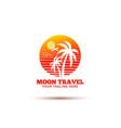 moon travel logo design vector image