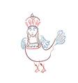 mythological sirin bird half-woman half-bird in vector image