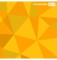 Orange Triangle Geometric Abstract Background vector image vector image