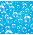 Oxygen bubbles in water blue background for vector image vector image