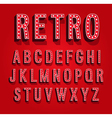 retro font with light bulbs vector image vector image