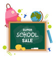 school sale label badge school sale background vector image vector image