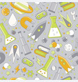 science flat seamless pattern with scientific vector image vector image