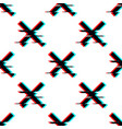 seamless pattern with symbol cross in vector image vector image