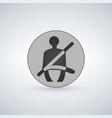 seat belt warning icon safety belt car symbol vector image vector image