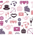 Set valentines day pattern signs vector image vector image