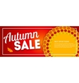 Shiny Autumn Leaves Sale Banner Business Discount vector image vector image