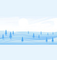 simple winter landscape vector image vector image