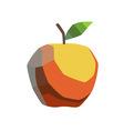 stylized apple vector image vector image