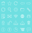 Tool bar line icons on blue background vector image vector image